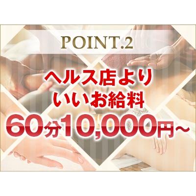 60分10,000円~でヘルス以上のお給料!